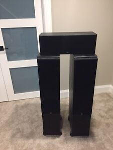 Reel Acoustic towers and centre channel speakers