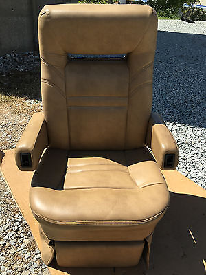 Flexsteel POWER RV Captain's Chair tan motorhome coach seat Passenger 12v Elect