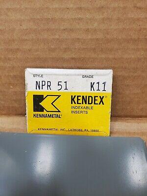 New Inserts Kennametal  Npr 51  K11