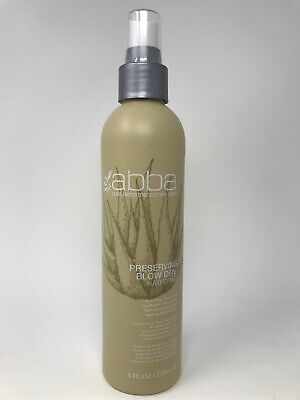 Abba Preserving Blow Dry Hair Spray 8 Oz. Protection for Heat Activated Styles