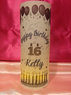 10 Personalized Happy Birthday Luminaries Table Centerpieces Party Decor #2