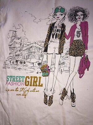 Shirt Pullover weiß City Street Girl 2 Shopping Freundinnen 140 - Freunde Girls Pullover