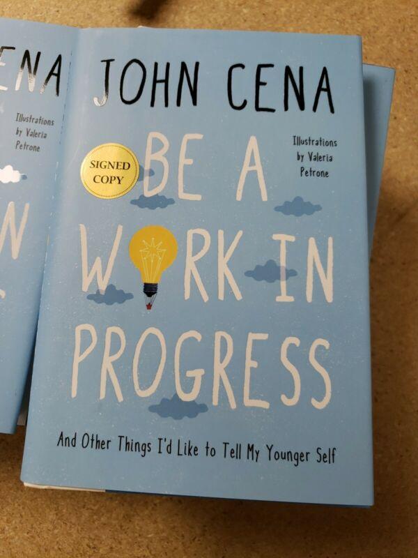 New Be a Work in Progress Book by John Cena WWE