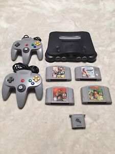 N64 console + 2 controllers + 4 games + 1 memory card