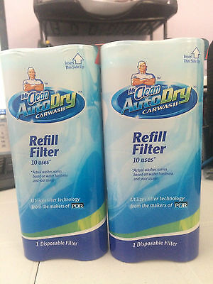 Lot of 2 Mr. Clean AutoDry Carwash Refill Filter 20 Uses New, Sealed Great Deal!