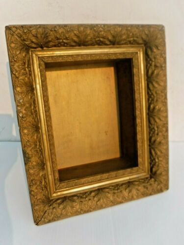 Antique~VIctorian~Deep Shadow Box~Ornate~Gold Gilt Picture Frame~Art Noueau~WOW!