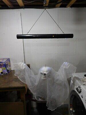 VTG Gemmy Floating Ghost/Skull Animated Halloween Motion Sound Hanging Prop