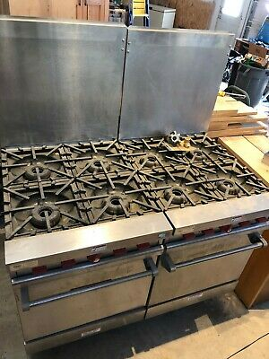 Vulcan Vg24-59 - Natural Gas 4 Burner Range Woven In Excellent Used Condition