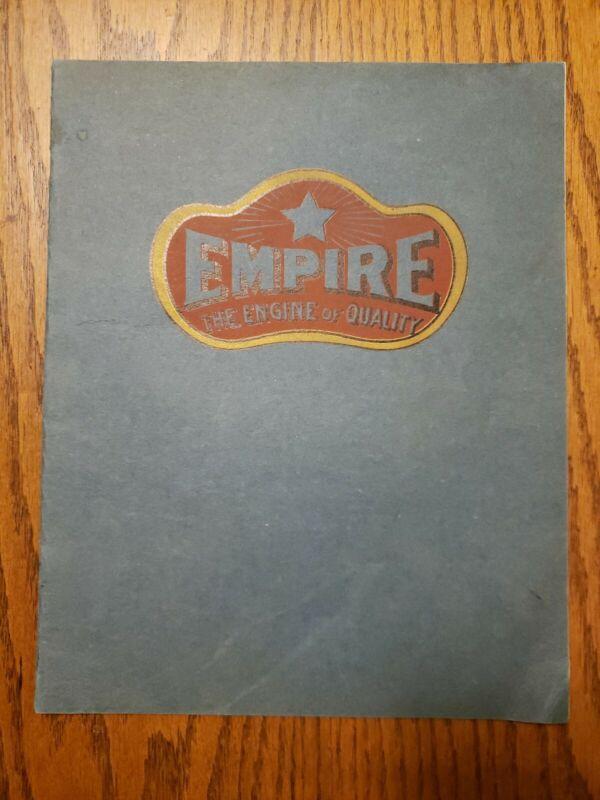 Empire Line Hit and Miss Gas Engine Catalog Cream Separator Original