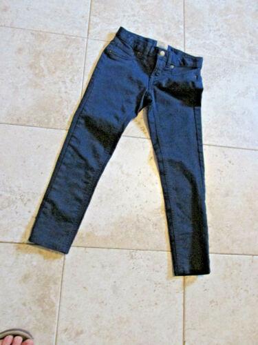"""$45 Lands End Pants Jeans Blue Cotton Pockets 22"""" Adjust Waist 20"""" Ins Boys 6"""