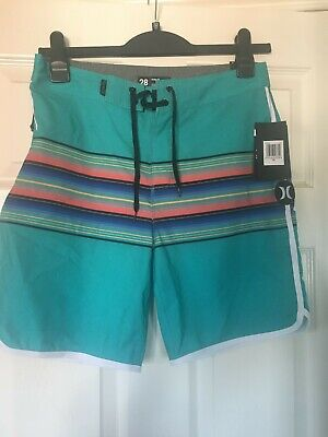 Mens 'Hurley' Turquoise Multi Shorts size S waist 28