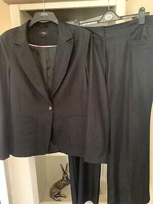 Ladies Smart Blue Trouser Suit By Next Size 18