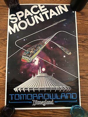 1977 DISNEYLAND SPACE MOUNTAIN TOMORROWLAND POSTER NM