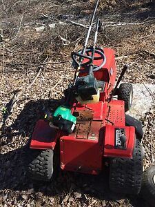 Lawn tractor and weed eater