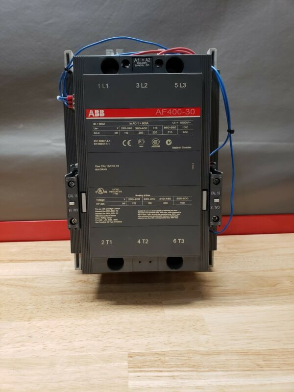 ABB AF400-30 3 Phase Block Contactor 125-400 HP☆USED SURPLUS GOOD CONDITION☆