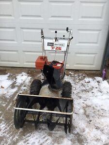 Craftsman snowblower