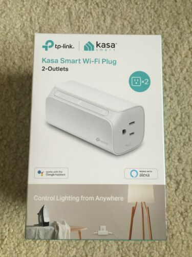 TP-LINK Kasa 2-Outlet Smart Wi-Fi Plug - White