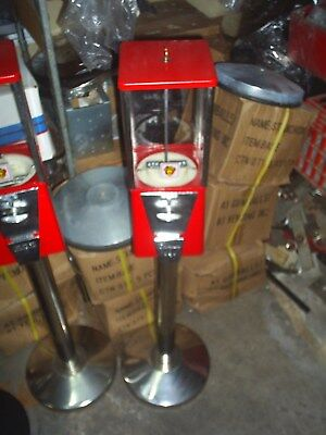 Used, Restored Oak Vista gumball machine 25 cent Candy Machine & SS stand Nice for sale  Franklinton