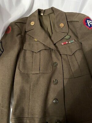 WW2 US Army 5th Army Sgts Ike Jacket Sz 38