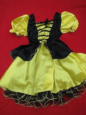 Kinderkostüm Biene Bienchen Gr. 128 Kostüm Karneval komplett hochwertig - Hochwertige Kinder Kostüm
