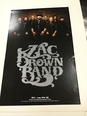 "Zac Brown Band"". 2sided  promo poster"