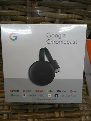 GOOGLE CHROMECAST NC2-6A5 New 3rd Gen Hulu Netflix Youtube