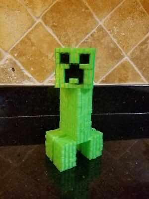 Minecraft creeper anatomy toy figure green
