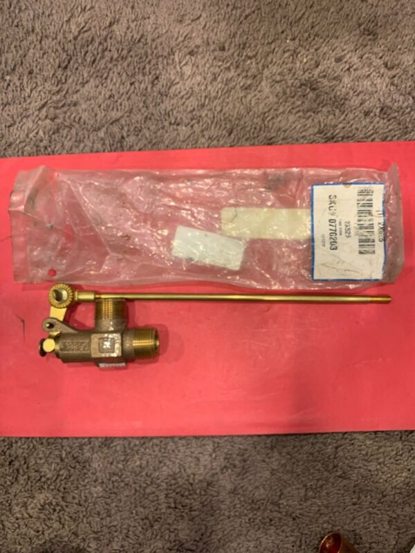 """Watts Model: ST750 Float Valve.  2X525.  ¾"""" MPT IN & OUT Flippen Float. NOS"""
