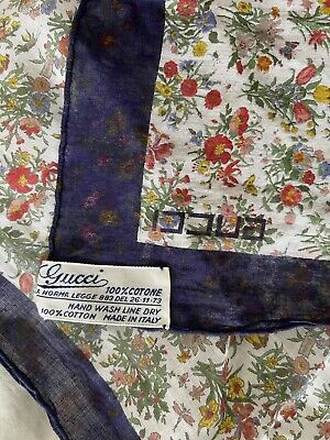 Vintage Scarf Styles -1920s to 1960s Vintage GUCCI Cotton Scarf, EXCELLENT!!! $95.00 AT vintagedancer.com