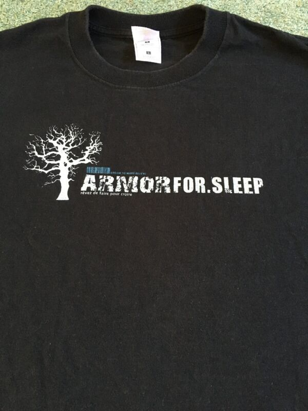 Vintage Armor For Sleep Early '00s First T-Shirt Design Emo Indie Rock Band