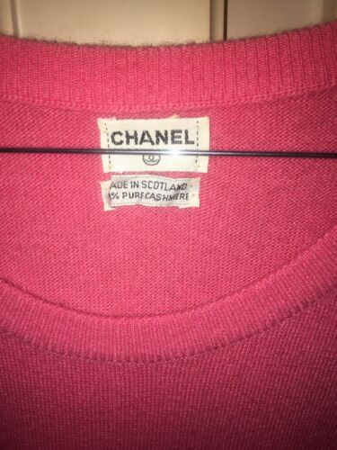Robe t.40 chanel cachemire vintage chanel cashmere dress uk 12
