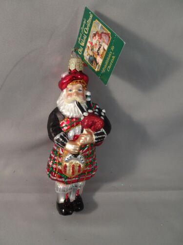 "NOS w Tag 2007 Old World Christmas OWC Scottish HIGHLAND SANTA 5"" Hand Painted"