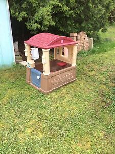 Kids playhouse and slide $50 for both