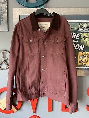 Burton Maroon Denim Jacket - Large