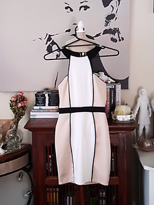 Cream and White Misguided Dress (Size 8) Eden Hill Bassendean Area Preview