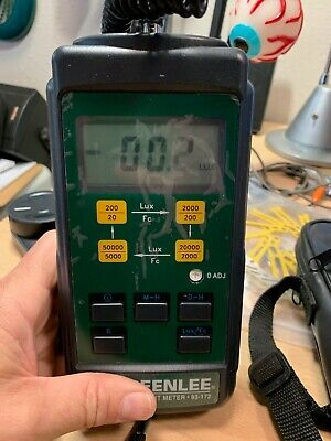 Greenlee Digital Light Meter 93-172 Lux Detector Still Has Protector On Front