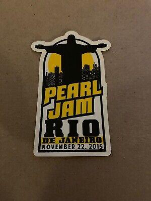 Pearl Jam 2015 Sticker Rio De Janeiro