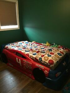 Step 2 Race Car Bed and Matching Dresser