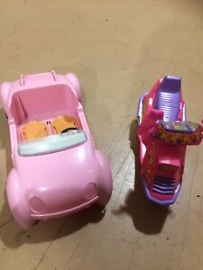 Barbie car and motorcycle