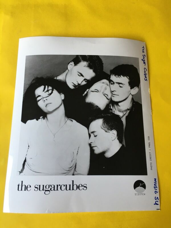 "Sugarcubes Press Photo 8x10"", Bjork, Thor, Elektra Records."