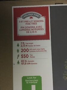 7ft pre-lit Pine tree