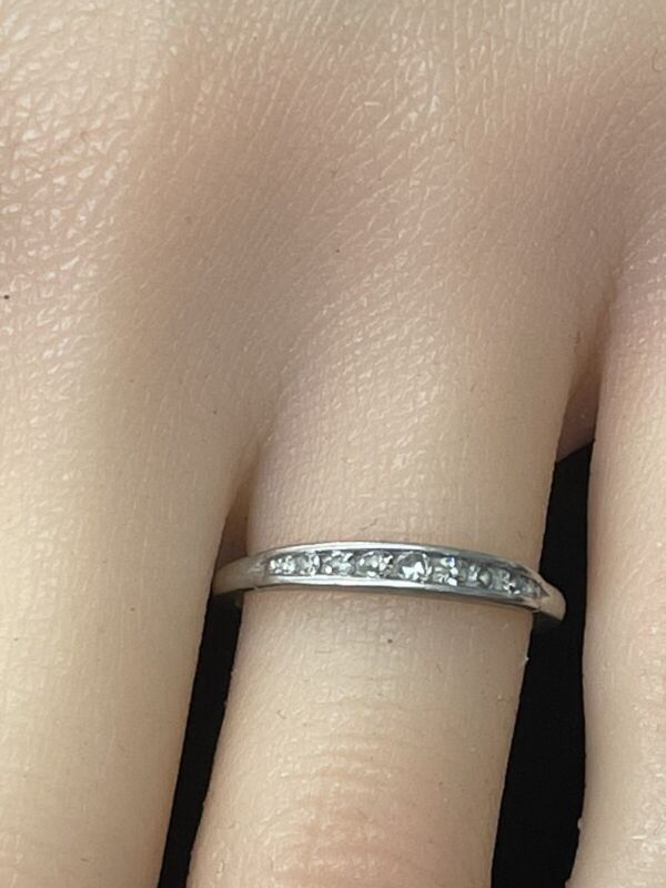 Antique Platinum Diamond Channel set Ring Offered by AITUZZI JEWELRY