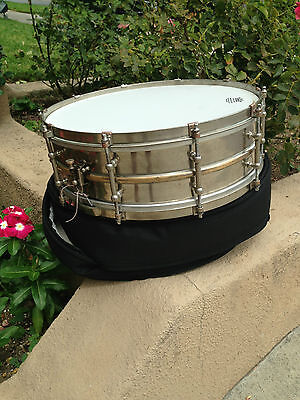 vintage ludwig snare drum, 1920s 10 lug, 5x15 extremly rare. NOB