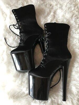 Gebraucht, Lack Stiefel Schuhe Gr. 37 Dance Shoes Plateau Heels Extreme Gothic WGT gebraucht kaufen  Ernstroda