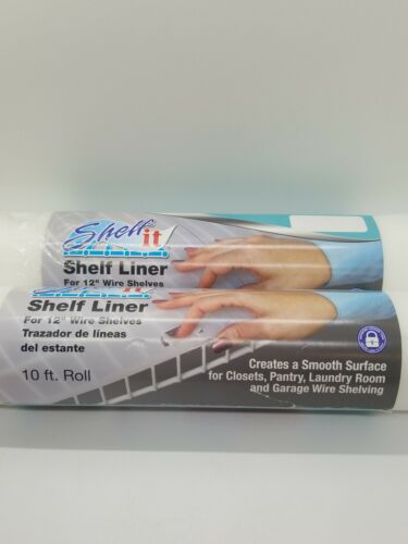 Shelf Liner for 12 Wire Shelving with Locking Tabs - 10 Foot