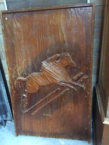 Large wooden carved horse pictures Walcha Walcha Area Preview
