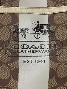 Coach heritage bag purse with matching wallet khaki & ivory