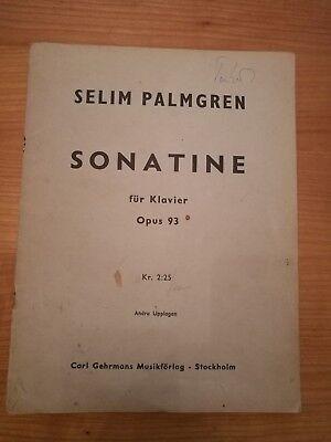 Noten. Palmgren. Sonatine für Klavier op. 93