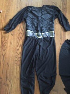 Dark Knight Batman Costume Kids Medium Black Costume (Kids Dark Knight Costume)