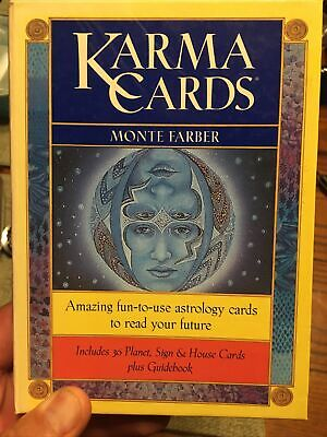 KARMA CARDS MONTE FARBER PSYCHIC ASTROLOGY FUTURE TAROT COMPLETE SET